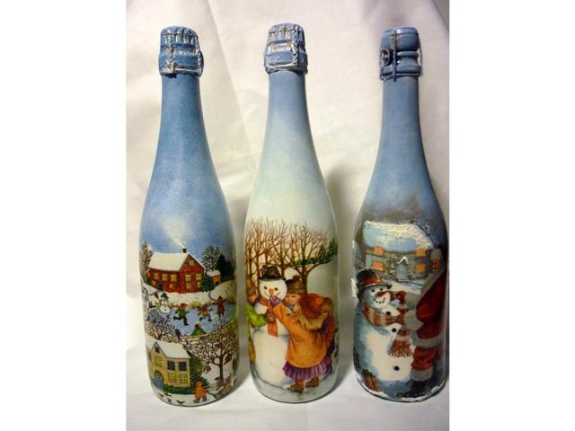 Бутылка к новому году