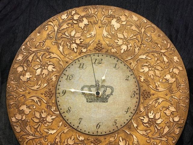 Часы декупаж объемный трафарет Barocci (3)