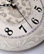 Часы декупаж трафарет borocci круговой бордюр (2)