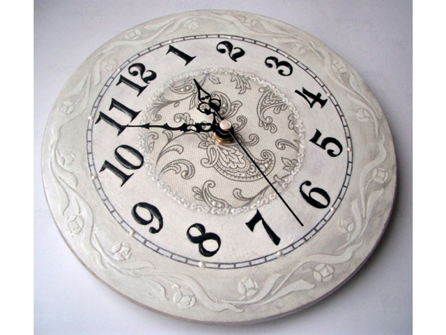 Часы декупаж трафарет borocci круговой бордюр (3)