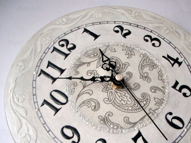 Часы декупаж трафарет borocci круговой бордюр