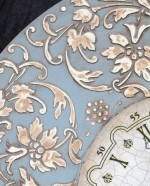 Часы декупаж трафареты barocci (2)