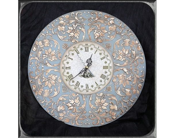 Часы декупаж трафареты barocci (3)