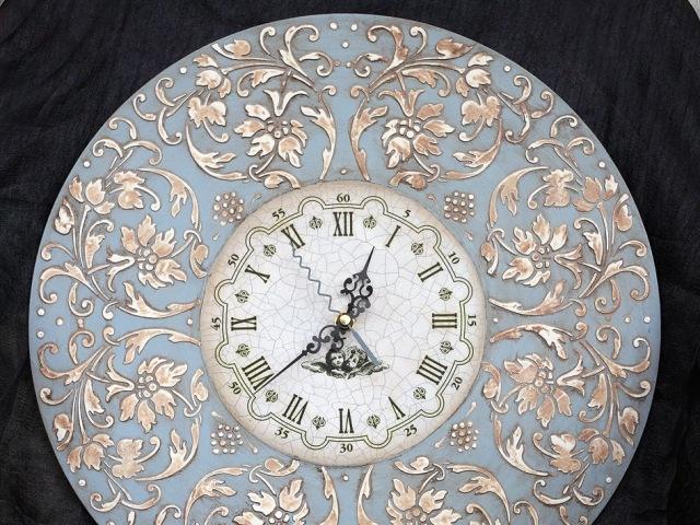 Часы декупаж трафареты barocci