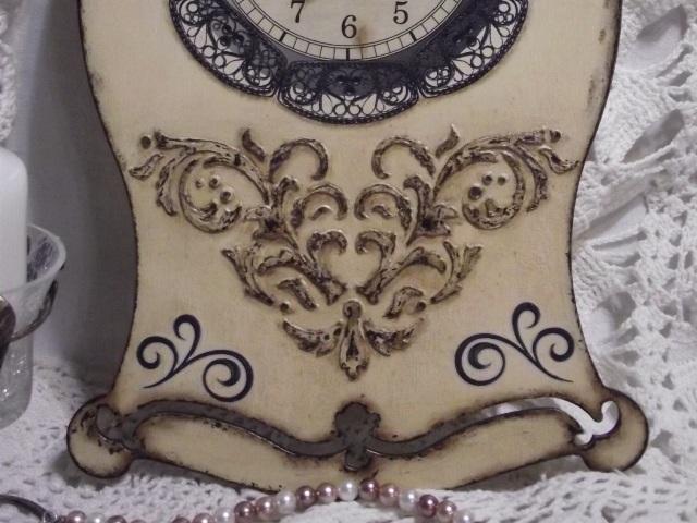 Часы объемный трафарет штукатурка (2)