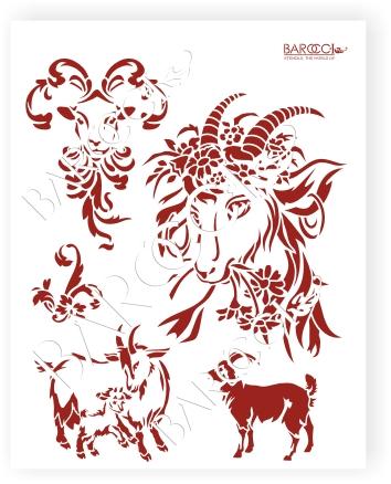 Коза в цветочках  и козочки окончательный