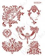 Л_122 Комплект Дворцовый стиль (Розы рог изобилия) 20х25