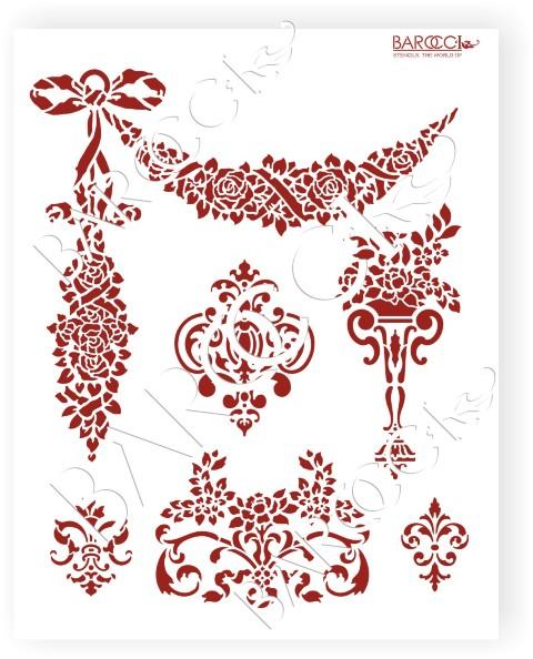 Л_123 Комплект Дворцовый стиль (Розы Гирлянда) 20х25