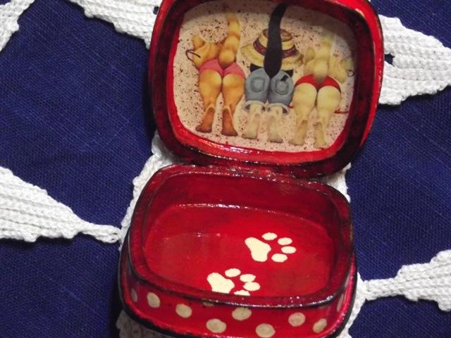 Шкатулка следы кошки (2)