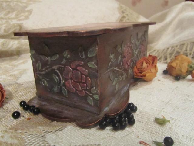 Шкатулка трафарет бордюр из роз Barocci (2)