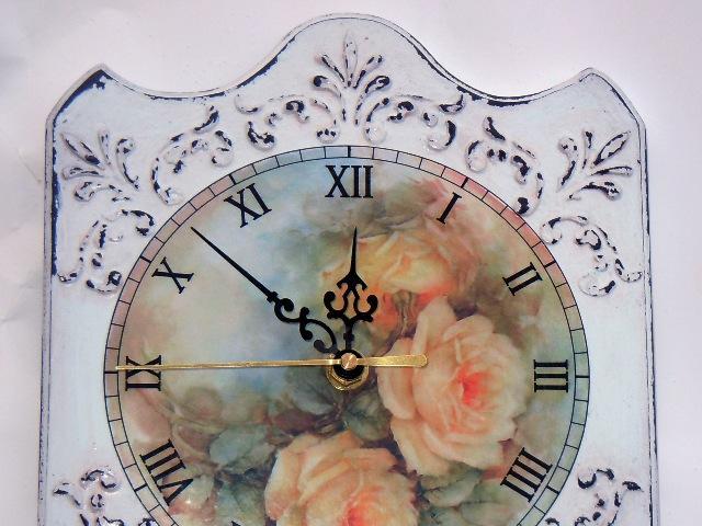 Трафарет объемный часы декупаж  (3)