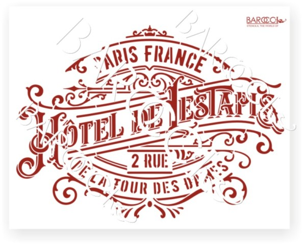 В-01 Вывеска Hotel de Lestapis 20х25 (17х24)