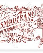 В-02 Вывеска Esmod France 20х25 (18х23)