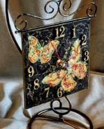 часы бабочка