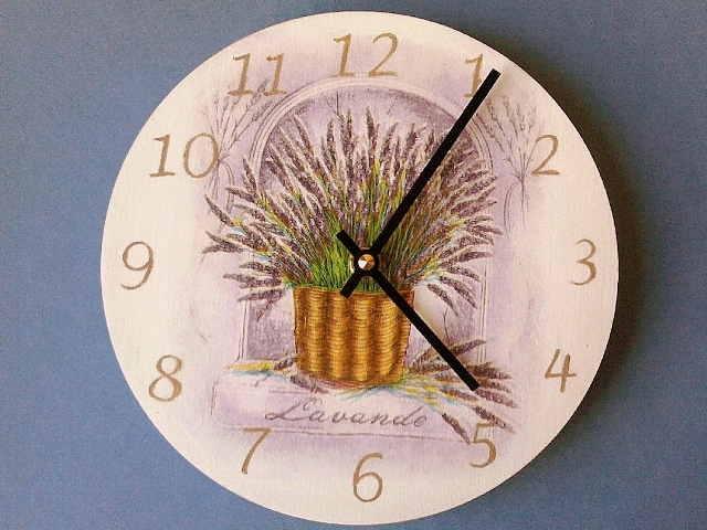 часы лаванда-1