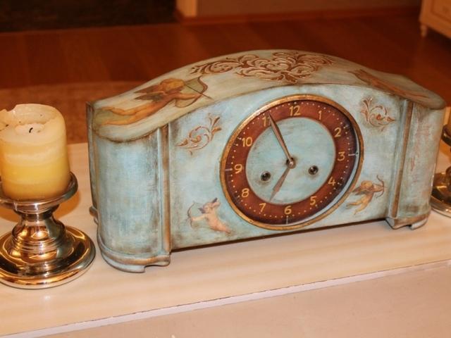 голубые часы 019