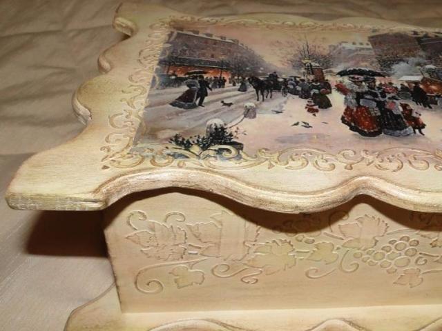 шкатулка под старину трафарет barocci (2)